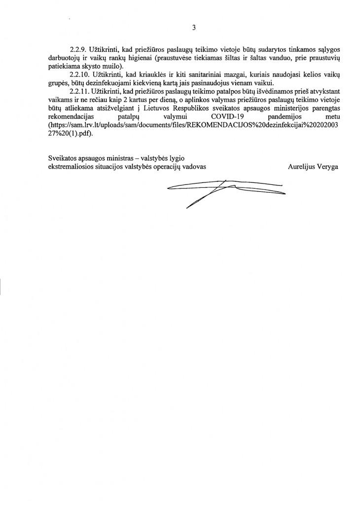 DĖL COVID-19 LIGOS (KORONAVIRUSO INFEKCIJOS) VALDYMO PRIEMONIŲ VAIKŲ PRIEŽIŪROS ORGANIZAVIMUI ĮSTAIGOSE (V-977)_page-0003